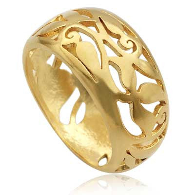 Pipal Filigree ring