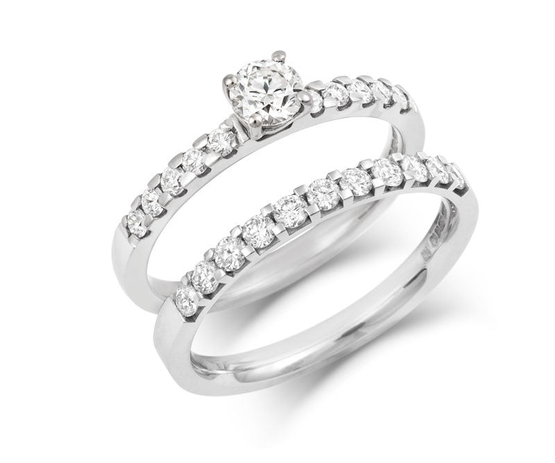 0.3ct Brilliant Solitaire Ethical Diamond Engagement Ring with Diamond Set Band - CRED Jewellery - Fairtrade Jewellery - 4