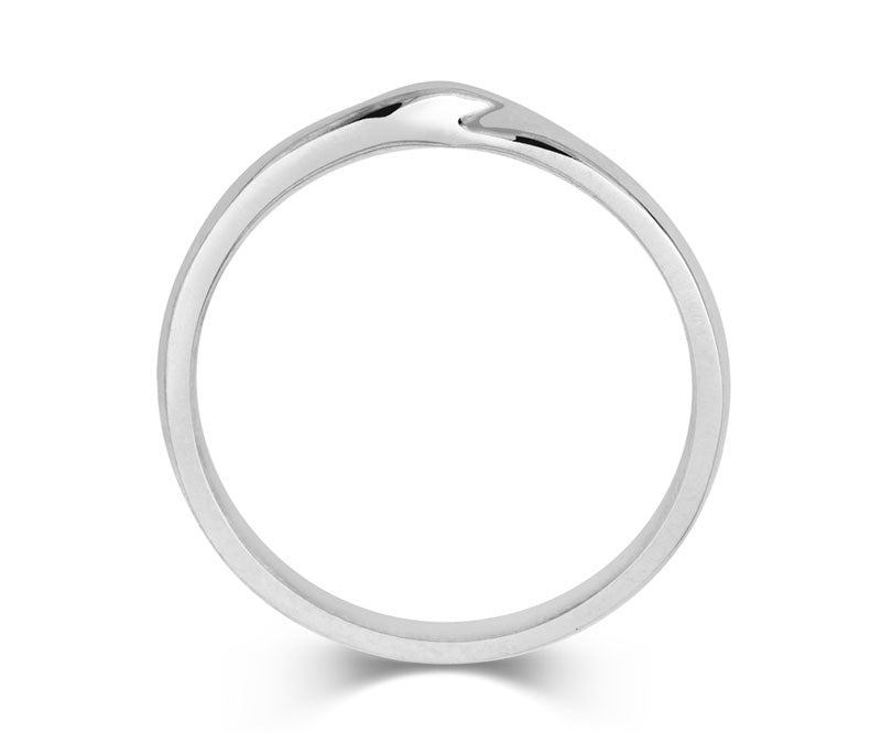 Ribbon Twist Wedding Ring- Yellow or White Gold (18ct) or Platinum - CRED Jewellery - Fairtrade Jewellery - 2