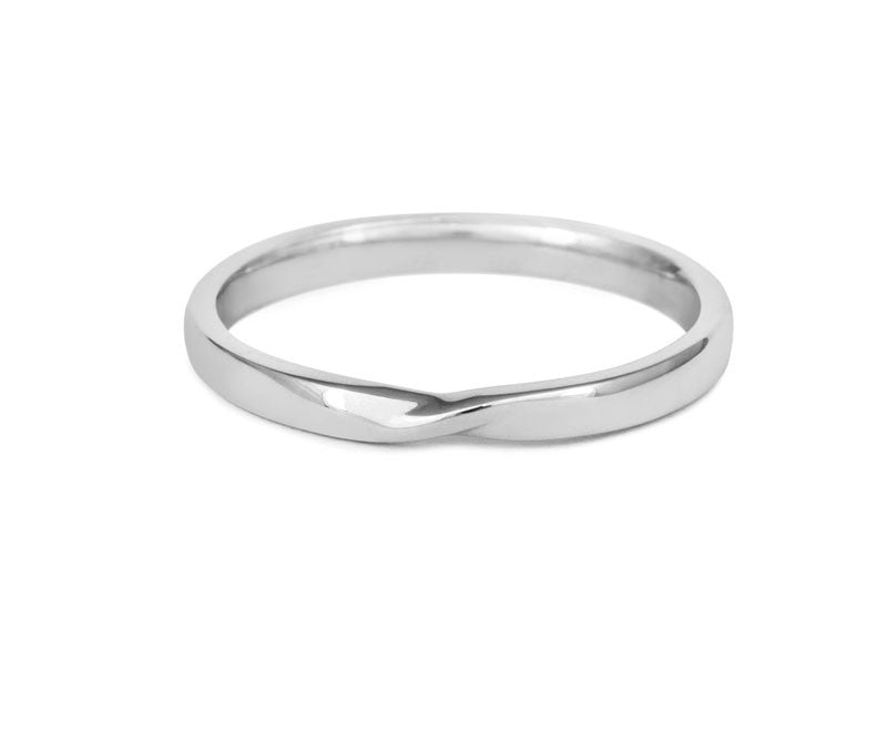 Ribbon Twist Wedding Ring- Yellow or White Gold (18ct) or Platinum - CRED Jewellery - Fairtrade Jewellery - 3