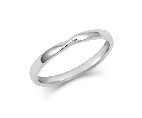 Ribbon Twist Wedding Ring- Yellow or White Gold (18ct) or Platinum