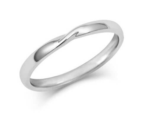 Ribbon Twist Wedding Ring - Yellow, White or Rose Gold (18ct) or Platinum