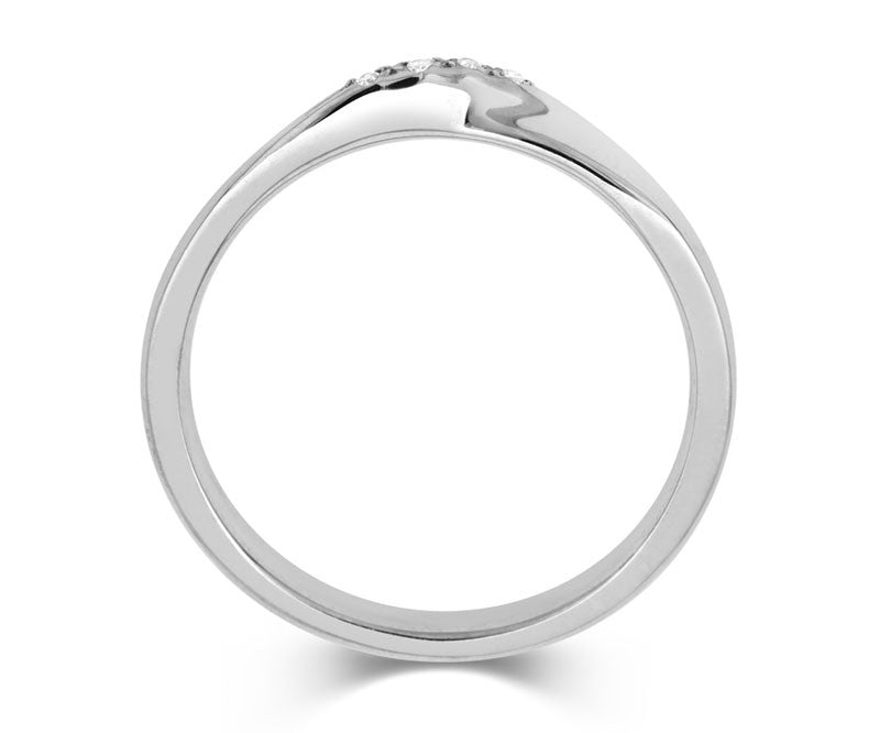 Ribbon Twist Wedding Ring with Diamonds-Yellow or White Gold (18ct) or Platinum - CRED Jewellery - Fairtrade Jewellery - 4