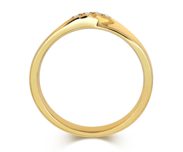 Ribbon Twist Wedding Ring with Diamonds-Yellow or White Gold (18ct) or Platinum - CRED Jewellery - Fairtrade Jewellery - 6