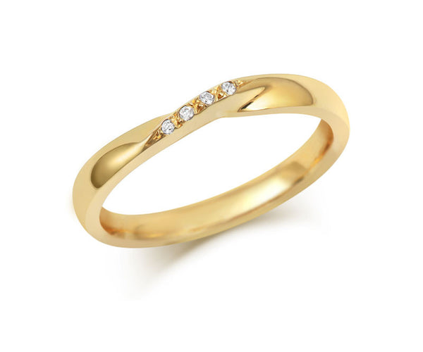 Ribbon Twist Wedding Ring with Diamonds-Yellow or White Gold (18ct) or Platinum - CRED Jewellery - Fairtrade Jewellery - 2