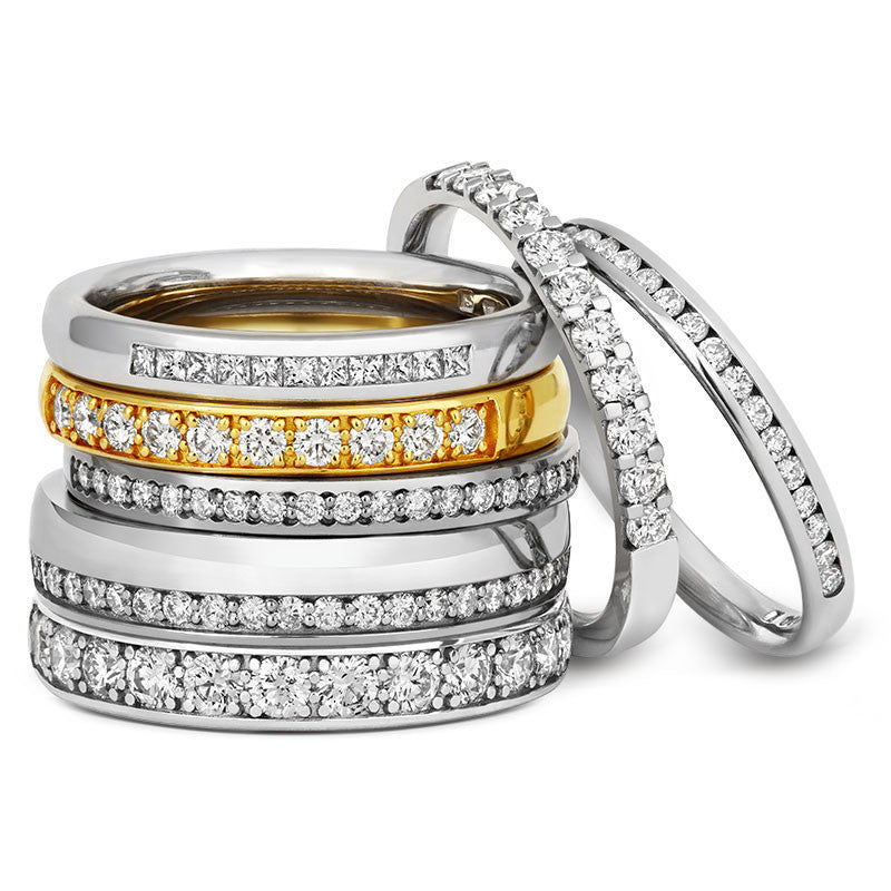 Offset Diamond Half Eternity Ring - CRED Jewellery - Fairtrade Jewellery - 3