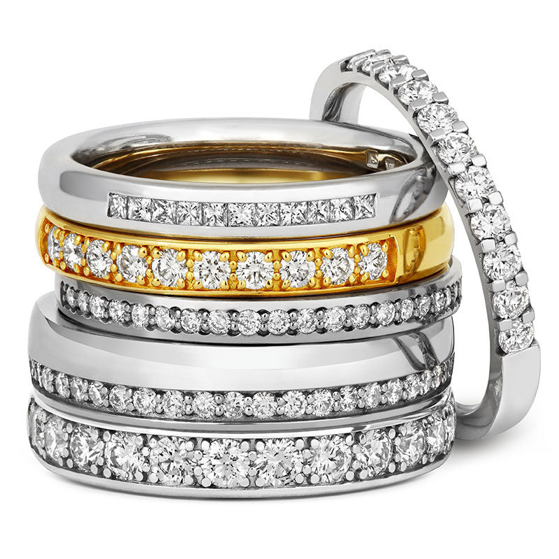 Delicate Pave Diamond Half Eternity/Wedding Ring - CRED Jewellery - Fairtrade Jewellery - 3