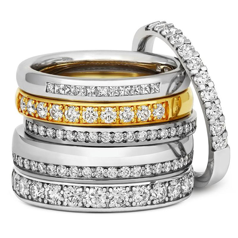 Delicate Channel Set Diamond Half Eternity Ring - CRED Jewellery - Fairtrade Jewellery - 3