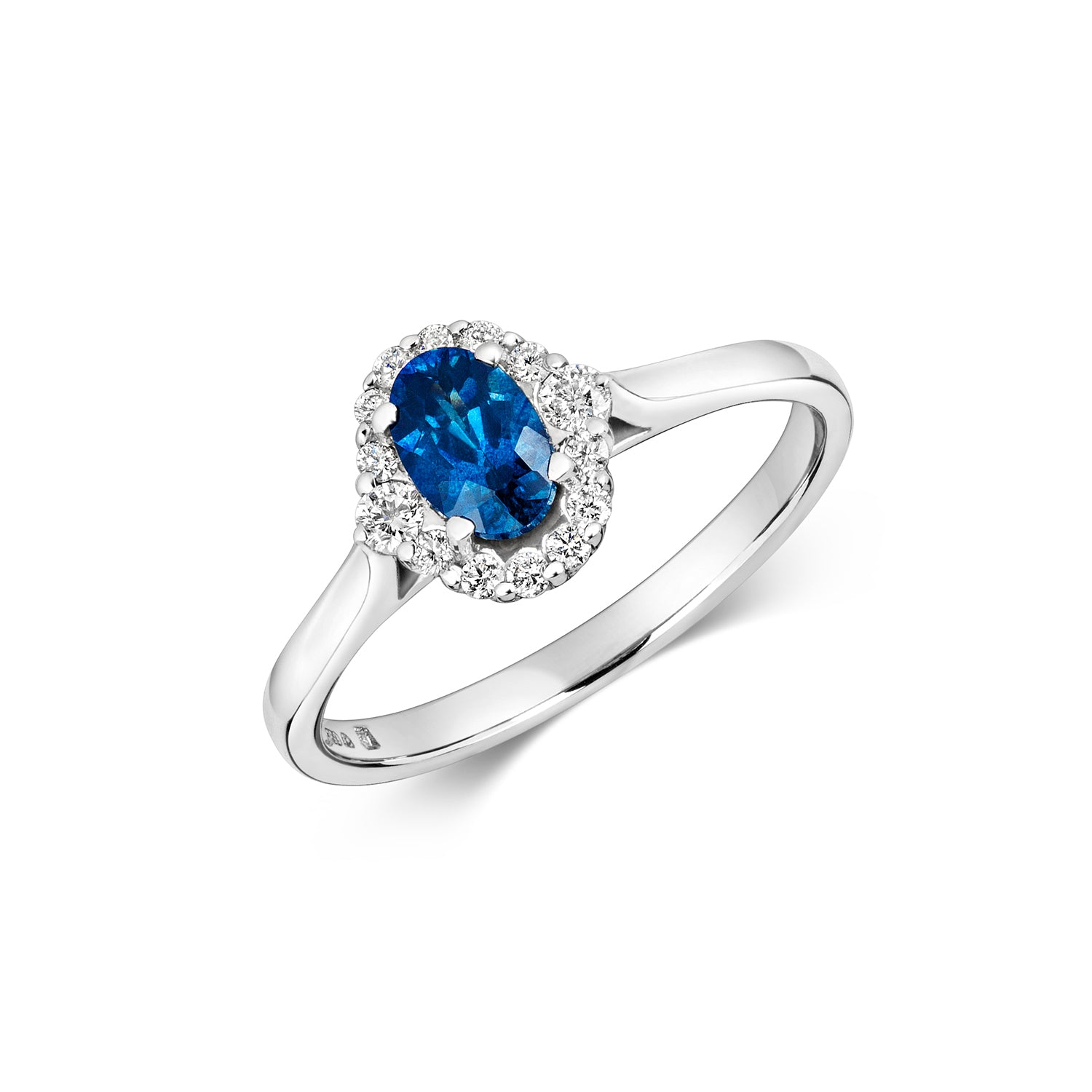 Aurora - Sapphire Cluster Engagement Ring