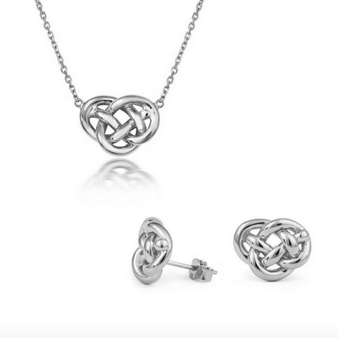 Love Knot Pendant and Stud Set