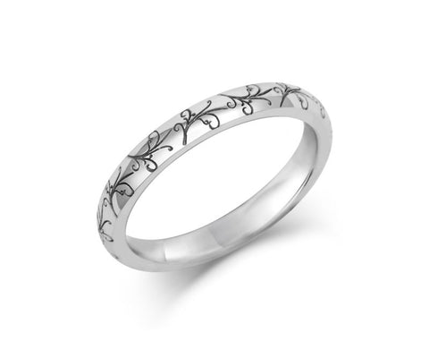 Dove Tail Wedding Ring