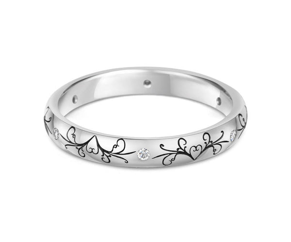 Dove Tail Wedding Ring with Diamonds - CRED Jewellery - Fairtrade Jewellery - 3