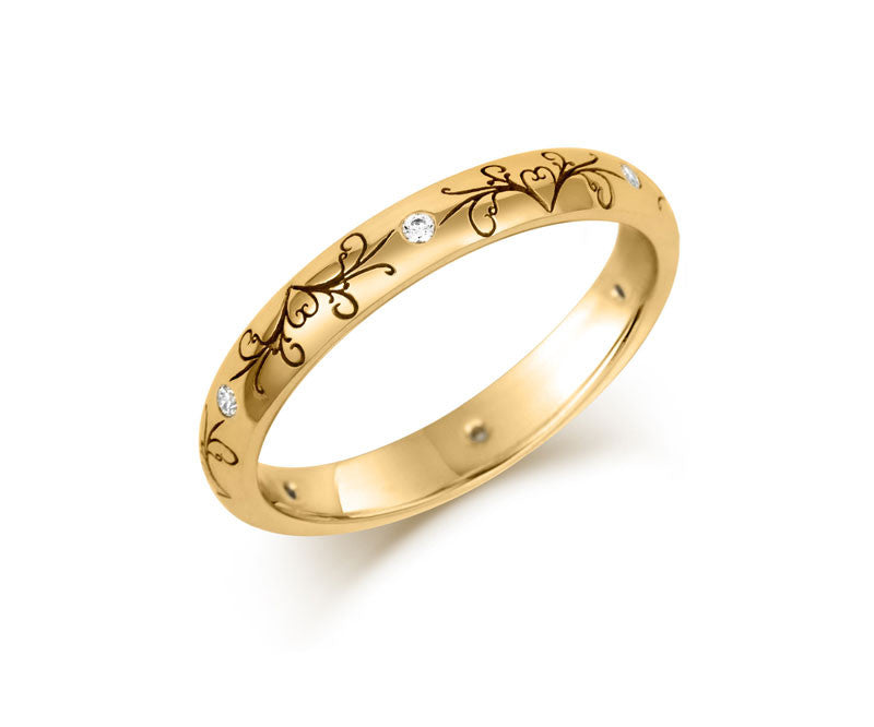 Dove Tail Wedding Ring with Diamonds - CRED Jewellery - Fairtrade Jewellery - 4