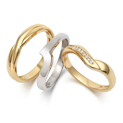 Crossover Wedding Band- Yellow or White Gold (18ct) or Platinum - CRED Jewellery - Fairtrade Jewellery - 8