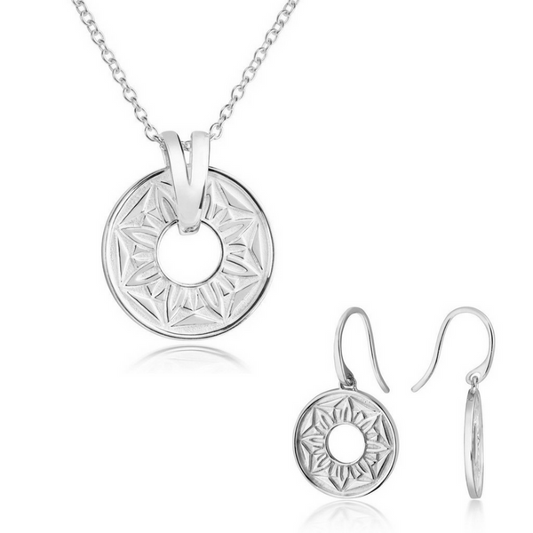 Signature Pendant and Earring Set - CRED Jewellery - Fairtrade Jewellery
