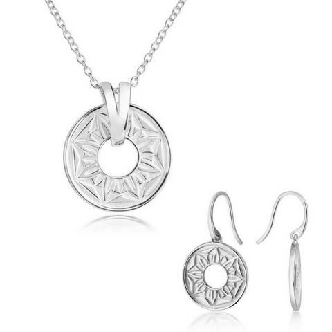 Signature Pendant and Earring Set