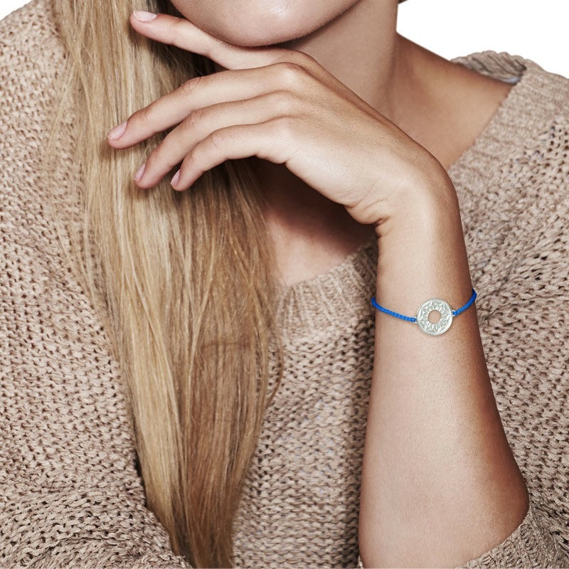 Blue Signature Cord Bracelet - CRED Jewellery - Fairtrade Jewellery - 2
