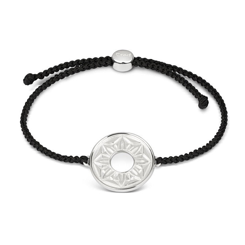 Black Signature Cord Bracelet - CRED Jewellery - Fairtrade Jewellery - 1