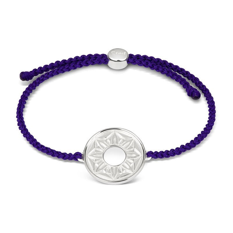 Purple Signature Cord Bracelet - CRED Jewellery - Fairtrade Jewellery - 1