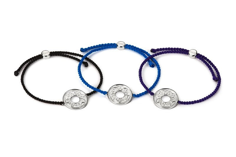 Blue Signature Cord Bracelet - CRED Jewellery - Fairtrade Jewellery - 3