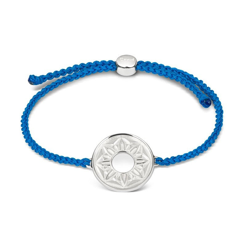Blue Signature Cord Bracelet - CRED Jewellery - Fairtrade Jewellery - 1