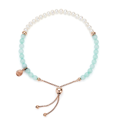 Jersey Pearl Sky Bracelet - Bar - Mint Green Quartzite