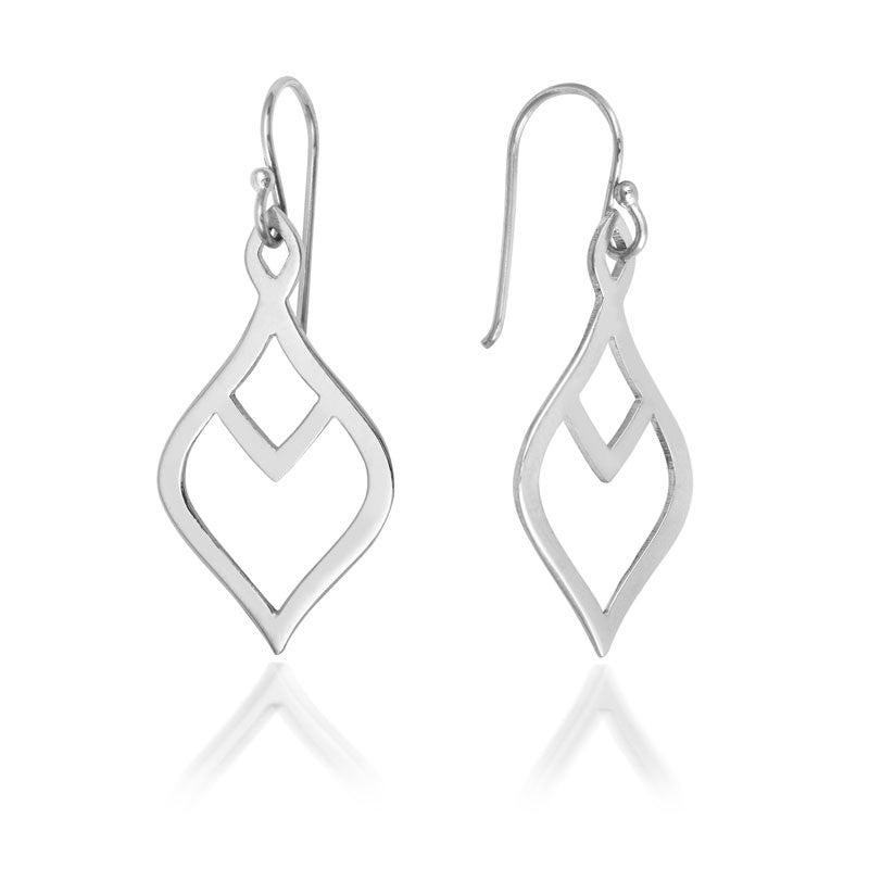 Nouveau Leaf Drop Earrings - CRED Jewellery - Fairtrade Jewellery