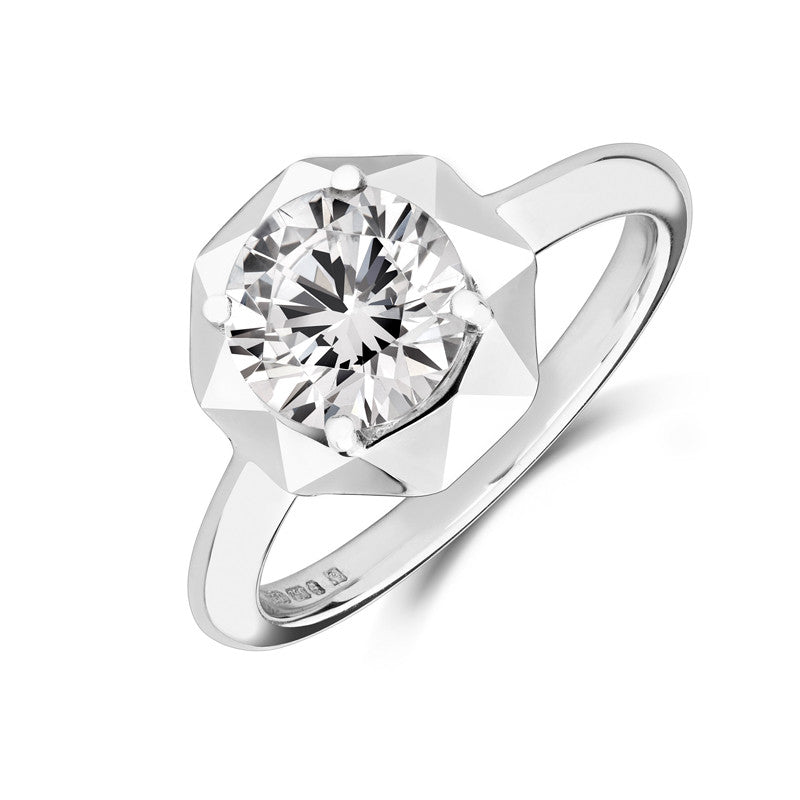 Stella Ethical Solitaire Diamond Engagement Ring - CRED Jewellery - Fairtrade Jewellery - 1