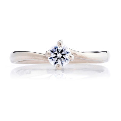 Twist Ethical Solitaire Diamond Engagement Ring