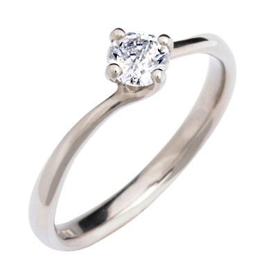 Twist Solitaire Engagement Ring - CRED Jewellery - Fairtrade Jewellery - 4
