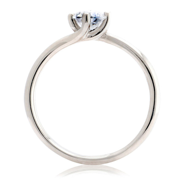 Twist Solitaire Rose Gold Engagement Ring - CRED Jewellery - Fairtrade Jewellery - 3