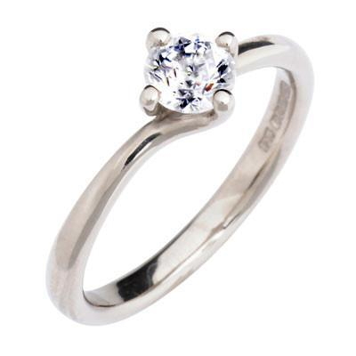 Twist Solitaire Engagement Ring - CRED Jewellery - Fairtrade Jewellery - 1