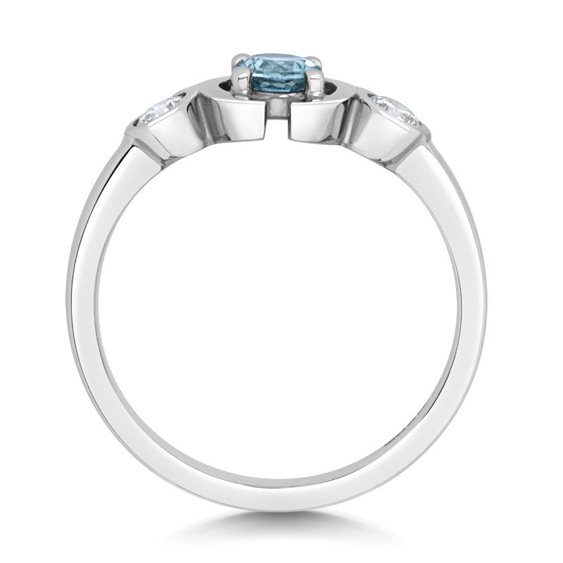 Le Trois Ethical Engagement Ring - CRED Jewellery - Fairtrade Jewellery - 2