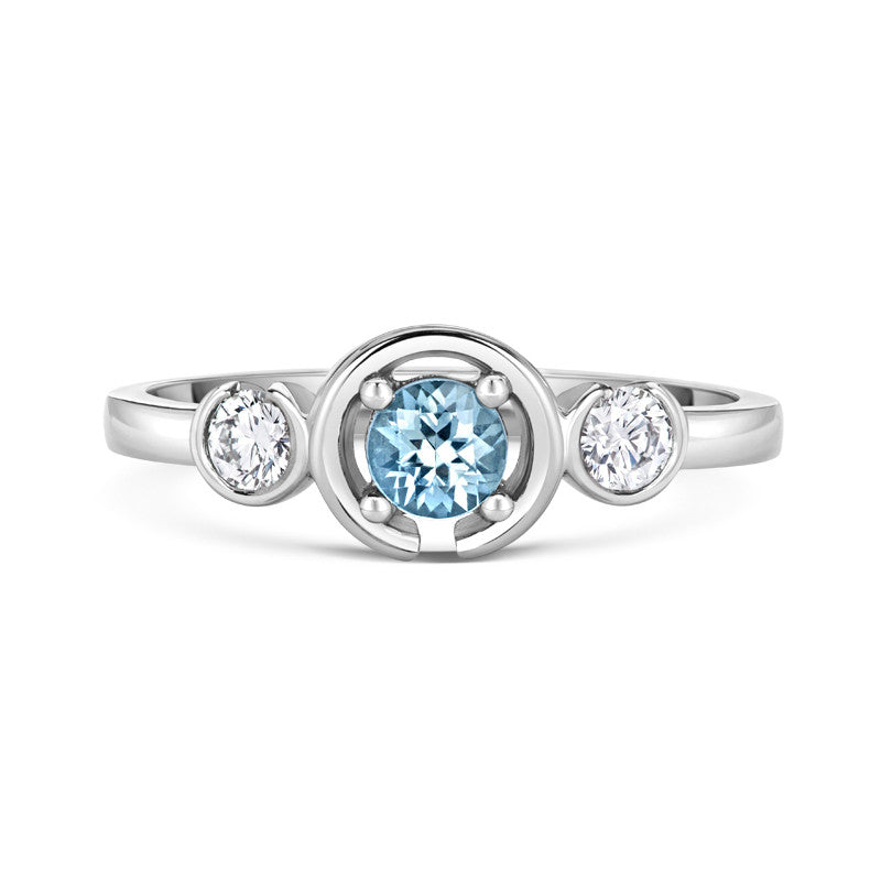 Le Trois Engagement Ring - CRED Jewellery - Fairtrade Jewellery - 3