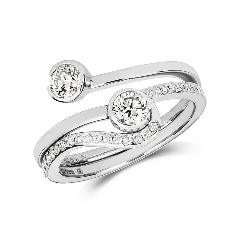 Toi & Moi Wedding Ring - CRED Jewellery - Fairtrade Jewellery - 2