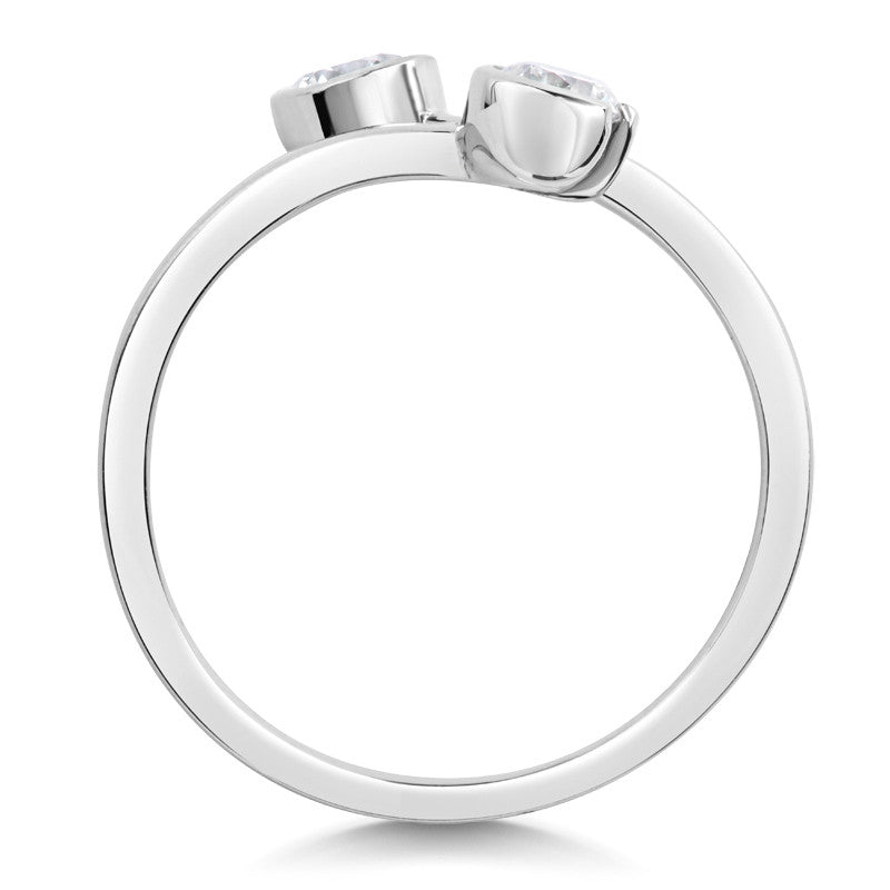 Toi & Moi Ethical Brilliant Cut Diamond Engagement Ring - CRED Jewellery - Fairtrade Jewellery - 2