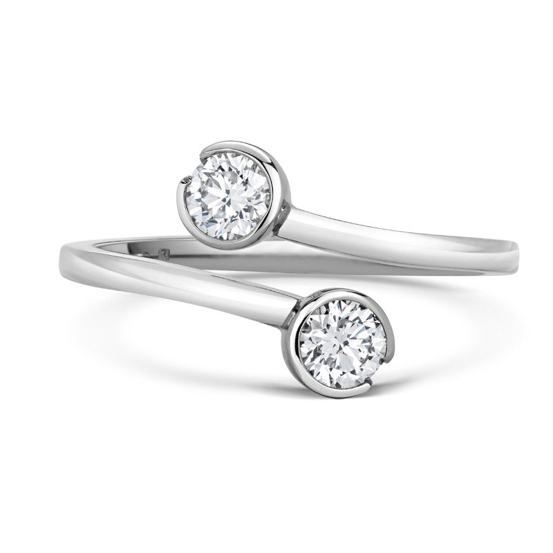 Toi & Moi Ethical Brilliant Cut Diamond Engagement Ring - CRED Jewellery - Fairtrade Jewellery - 1