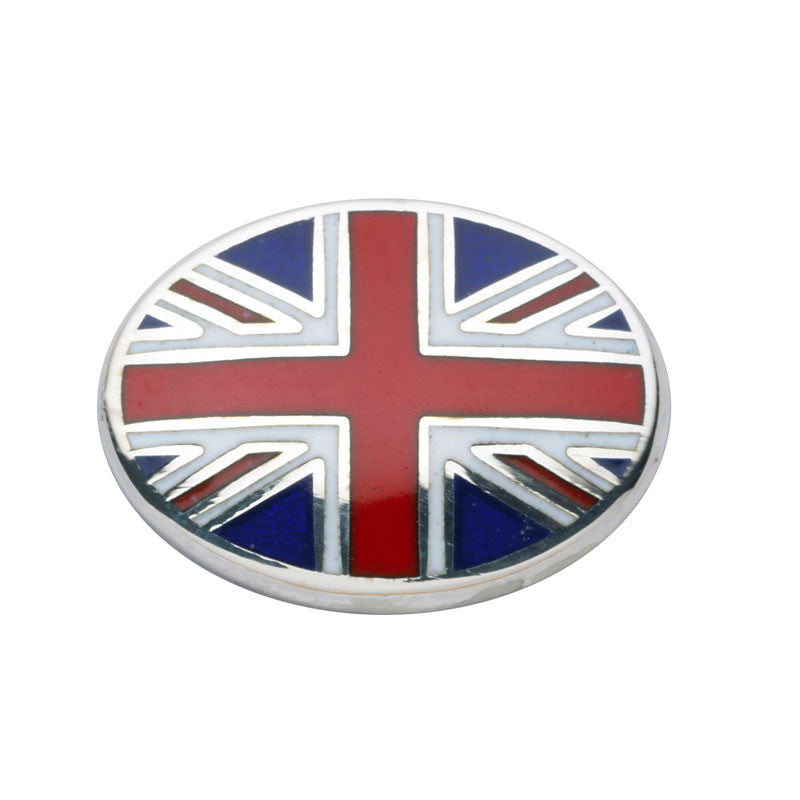 Union Jack Oval Cufflinks - CRED Jewellery - Fairtrade Jewellery - 2