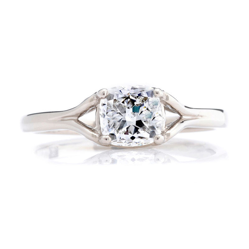 1ct Vintage Cushion-cut Diamond Fairtrade Engagement Ring - CRED Jewellery - Fairtrade Jewellery - 2
