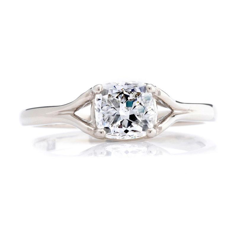 1ct Cushion-cut Ethical Diamond Engagement Ring - CRED Jewellery - Fairtrade Jewellery - 2