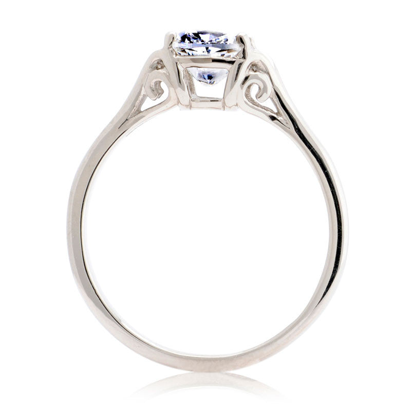 1ct Vintage Cushion-cut Diamond Fairtrade Engagement Ring - CRED Jewellery - Fairtrade Jewellery - 3