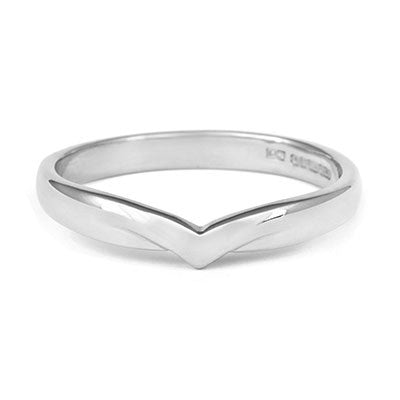 V Shaped Wedding Ring - CRED Jewellery - Fairtrade Jewellery - 2