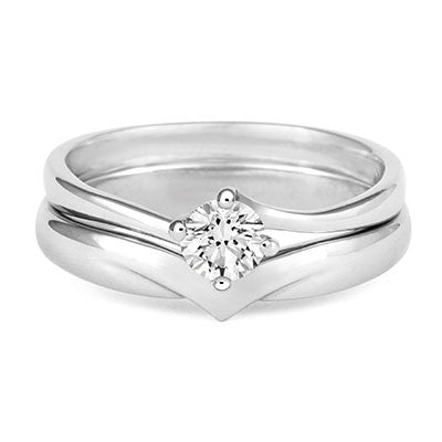 V Shaped Wedding Ring - CRED Jewellery - Fairtrade Jewellery - 5