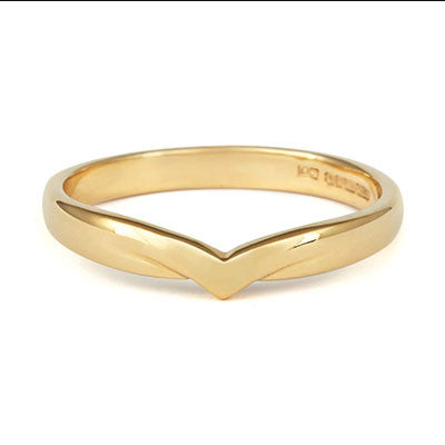 V Shaped Wedding Ring - CRED Jewellery - Fairtrade Jewellery - 6