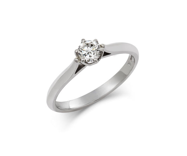 Diamond Crown Solitaire Engagement Ring - CRED Jewellery - Fairtrade Jewellery - 4