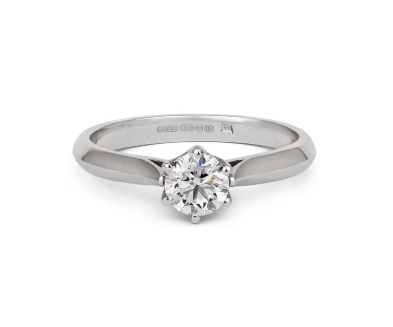 Diamond Crown Solitaire Engagement Ring - CRED Jewellery - Fairtrade Jewellery - 2