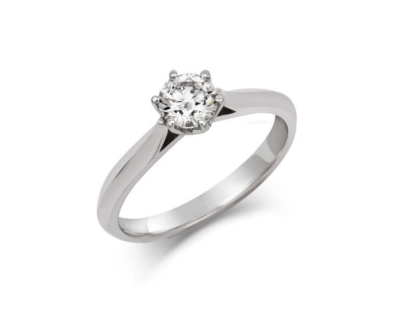 Diamond Crown Solitaire Engagement Ring - CRED Jewellery - Fairtrade Jewellery - 1