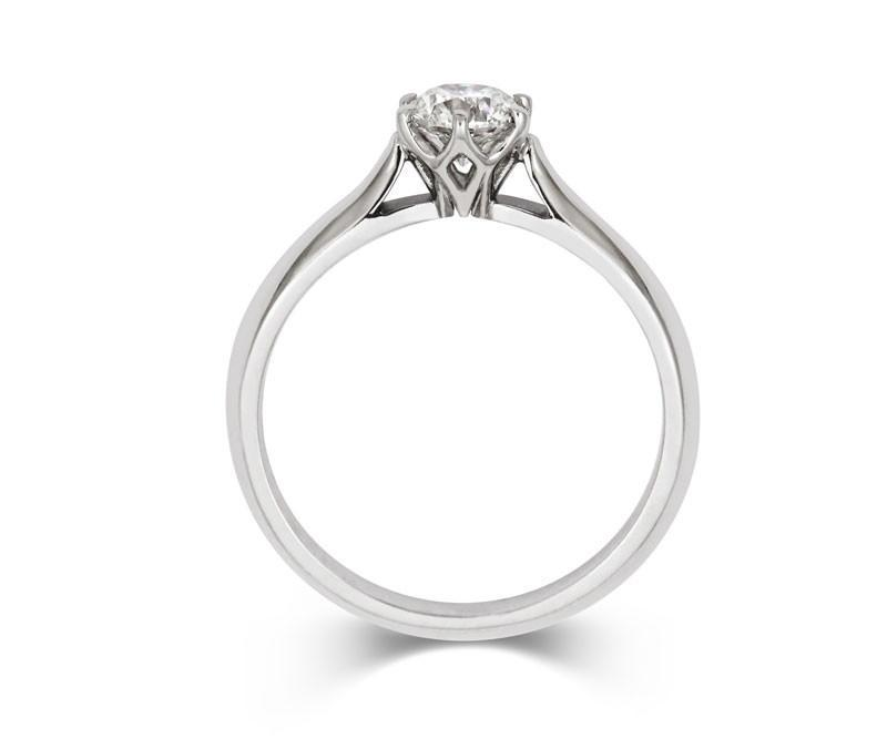 Diamond Crown Solitaire Engagement Ring - CRED Jewellery - Fairtrade Jewellery - 3