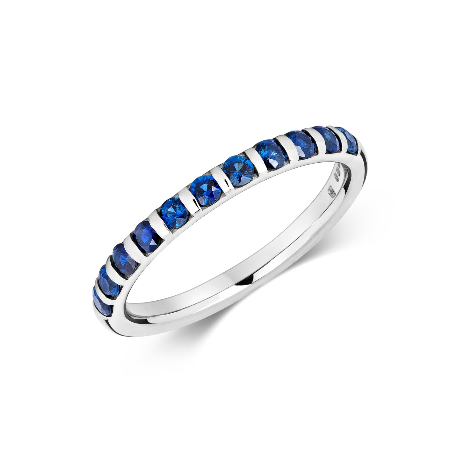 Sapphire Eternity/Wedding Ring - Platinum