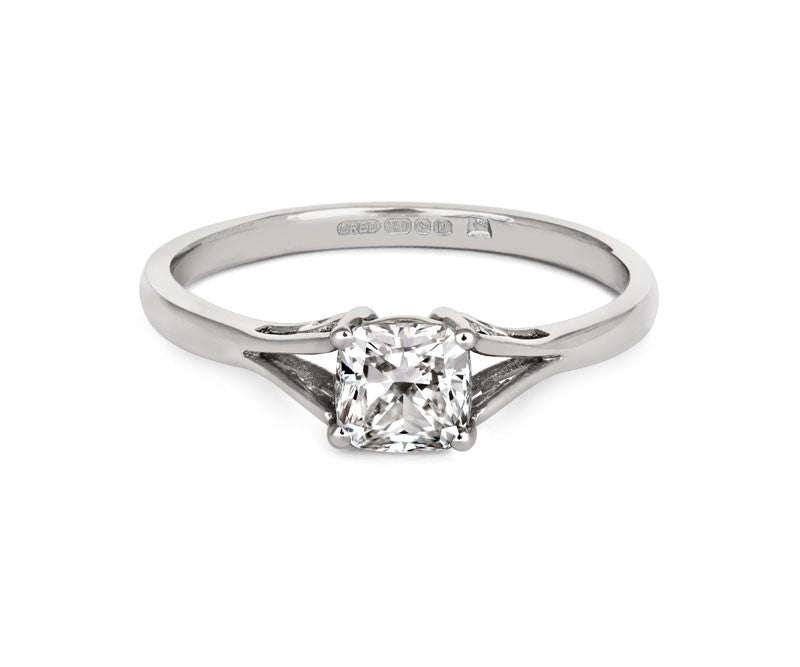Vintage Cushion-cut diamond ring - CRED Jewellery - Fairtrade Jewellery - 2